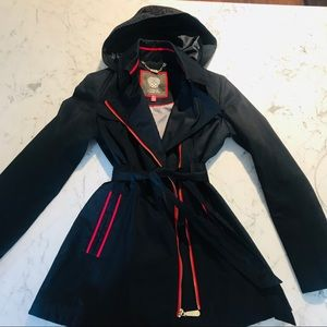 NEW Vince Camuto Navy Trench Coat